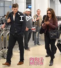 ashton kutcher u0026 mila kunis arrive back home after romantic