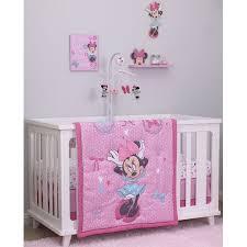Minnie Crib Bedding Set Disney Minnie Mouse 4pc Crib Bedding Set Walmart