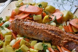 cuisiner un filet mignon au four filet mignon au four avec pommes de terre carotte et moutarde au