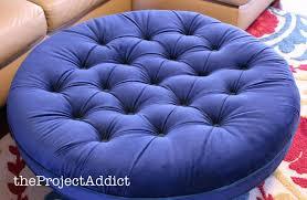 ottoman round purple tufted ottoman homepop large round storage