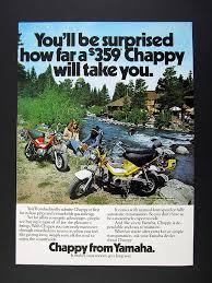 1975 yamaha chappy mini bike motorcycle photo vintage print ad