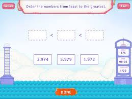 order decimals worksheet games fifth grade math
