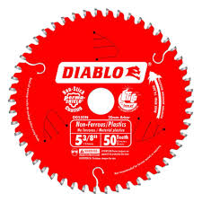 Circular Saw Blade For Laminate Flooring Diablo 5 3 8 In X 50 Tooth X 20 Mm Arbor Non Ferrous Metal