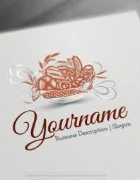 design free logo vegetable bowl online logo templates
