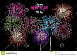 happy new year 2016 fireworks poster stock vector image