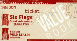 Six Flags Great America Phone Number Six Flags Great Adventure Season Pass Coupon Booklets