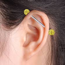 bar earring cartilage 51 earring bars diamond bar earrings etsy lamevallar net