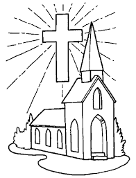 church and cross coloring pages for kids d9g printable