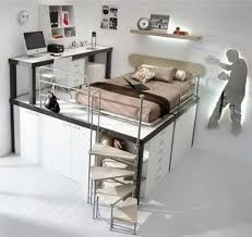Best Cool Loft Beds Images On Pinterest Architecture - Kids bunk bed desk