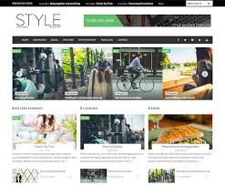 style magazine responsive seoptimized free blogger template