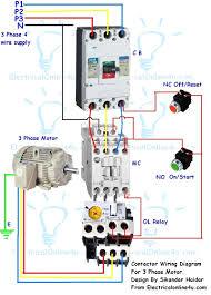 motor starter wiring diagram motor wiring diagrams collection