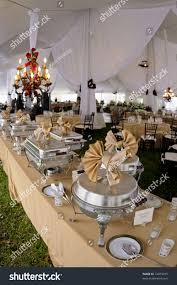 100 buffet dinner table setting modern chrome bowl food