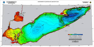 Generic Mapping Tools Bathymetry Of Lake Erie And Lake Saint Clair