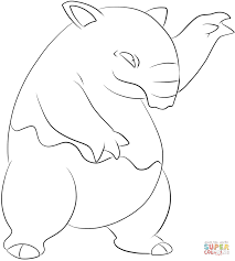 drowzee coloring page free printable coloring pages