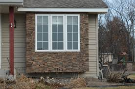 exterior window wall panels with faux stone ideas