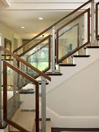tempered glass staircase railing staircase modern with floor to