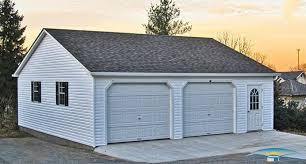 2 car prefab garages prefab two car garage horizon 28x28 prefab