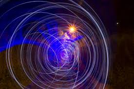 free images night spiral wave line reflection color space