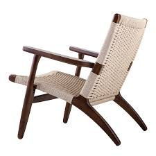 Rattan Accent Chair Claus Accent Chair In Walnut Finish Beech Wood And Rattan