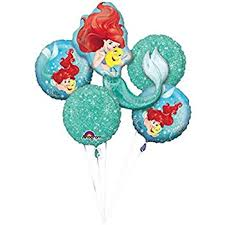 balloon bouquet mermaids the sea party supplies balloon