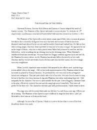 sample of reaction paper essay the phantom of the opera reaction paper