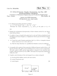 finite element methods april may 2007 question paper finite
