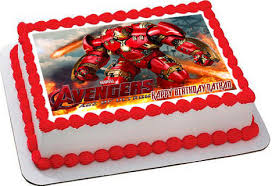 edible cake images iron hulkbuster edible birthday cake topper