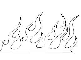 drawn flames stencil pencil and in color drawn flames stencil