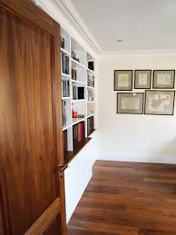 white built in modern bookcase bespoke furniture fitted