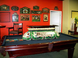 Pool Room Decor Interior Vintage Wooden Pool Table Wall Painted In Room