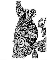 drawing zentangle koala coloring shirt design effect