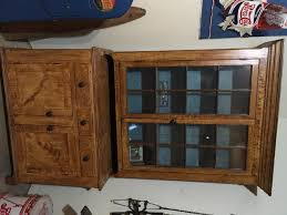 antique hutch with glass doors curio cabinet marvelous mission curio cabinet images