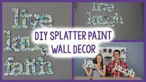 diy splatter paint wall decor tumblr inspired quick easy diy