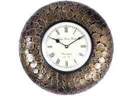 buy vintage coin wall clock online at discount prices
