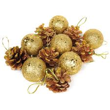 sale 12 pcs set and pine cones baubles tree