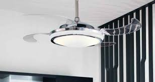 Retractable Ceiling Light by A Ceiling Fan With Retractable Blades Looks Cool And Keeps You Cool