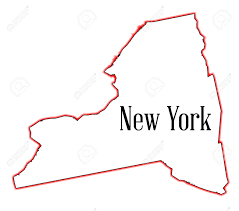 State Of New York Map by State Map Outline Of New York Over A White Background Royalty Free