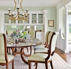 light green dining room beach style with lots of light traditional