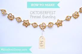 oktoberfest decorations edible pretzel bunting from