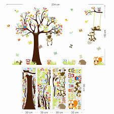 stickers animaux chambre b peaceful inspiration ideas stickers arbre animaux singes muraux pour enfants chambre d coration adesivo de parede 1212 bande dessin e pvc mural 3 jpg