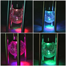 solar powered wind chime light image windlights solar powered rotating led light color changing