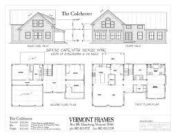 cape house floor plans post u0026 beam home plans in vt timber framing floor plans vt frames