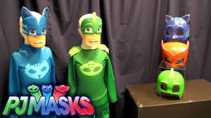 pj mask halloween costumes pj masks toy showcase u0026 masks youtube