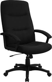 Upholstered Swivel Desk Chair by Black Fabric Upholstered High Back Executive Swivel Office Chair