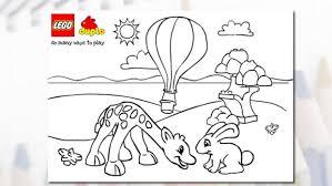 lego duplo giraffe colouring activity