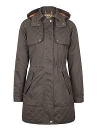 dubarry barrington women u0027s waterproof coat in verdigris ladies