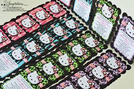 Hello Kitty Birthday Invitation Card Hello Kitty Zebra Cheetah Leopard Invitations Jingvitations