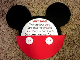 Homemade Birthday Invitation Cards Mickey Mouse Birthday Invitations Party City Birthday Party