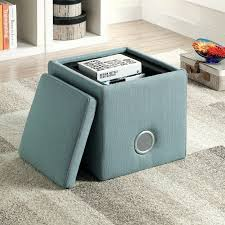 furniture tall storage ottoman round black leather ottoman small