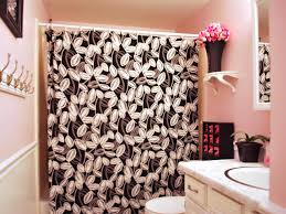 black and white bathroom decor ideas hgtv pictures black and white shower curtains
